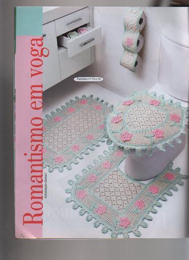 أحدث اطقم كروشية للحمام 2013 بالبترون , مفارش كروشية بالباترون تجنن Image-7
