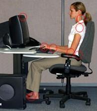 OSHA miejsce pracy przy komputerze