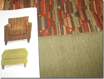 Chair Ottoman and Fabrics