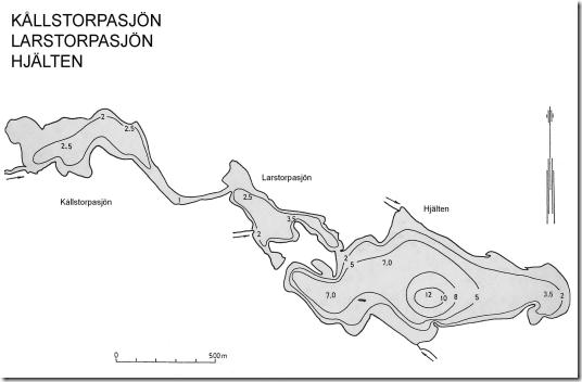 Hjalten-Kålltorpasön-Larstorpasjön