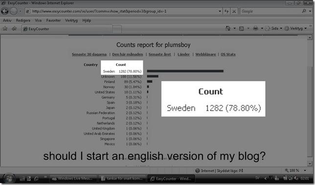 borde jag blogga på engelska