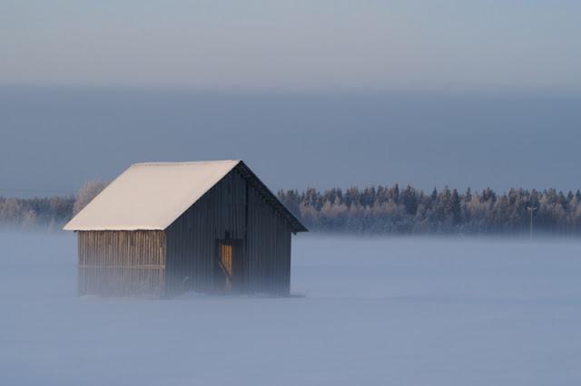 talvista latomaisemaa