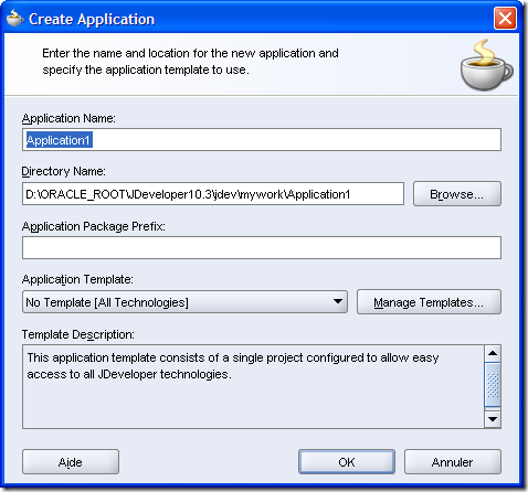 Application creation