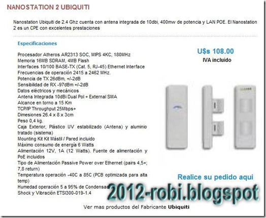 NANOSTATION2 UBIQUITI