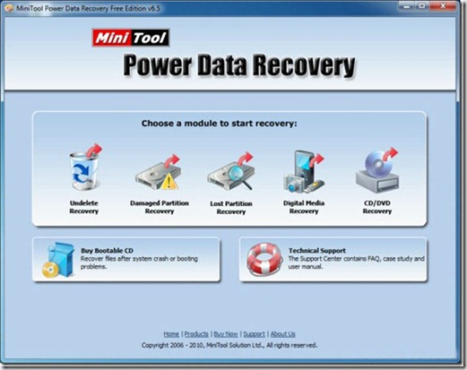 MiniTool Power Data Recovery Free Edition for Windows