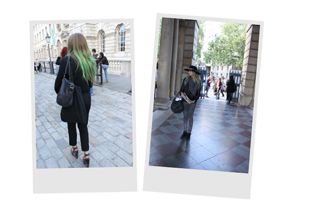 London Fashion Week Dyed Hair