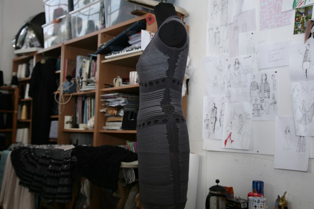 An Alice Lee 'AW10 dress on a mannequin