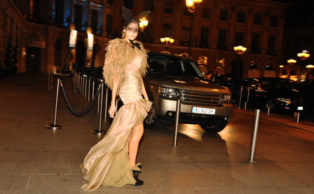Jak & Jill image of model Elena Perminova on her way to the French Vogue 90th brithday ball