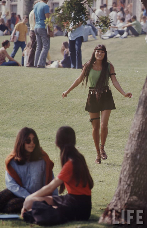 Life Magazine photoset of an American High School Campus in 1969