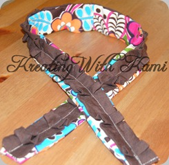 floral with brown ruffle camera strap 05_18_10