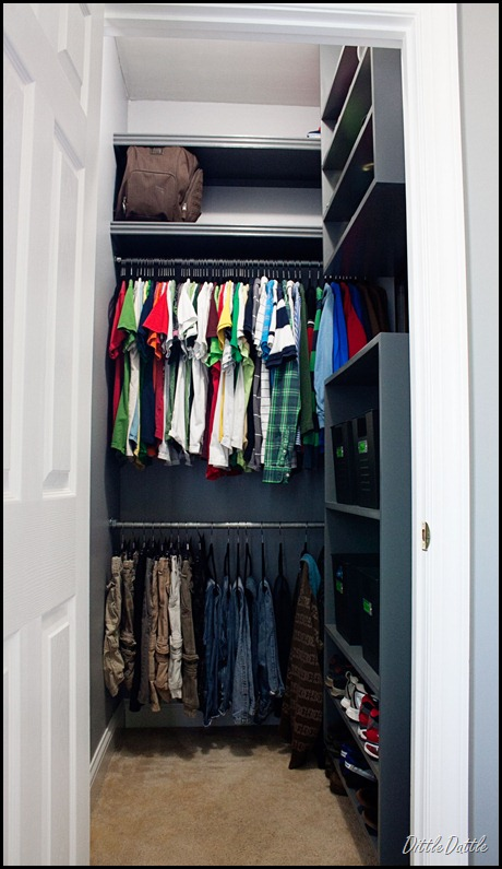 Boy's-Closet-MDF-Shelving-Unit