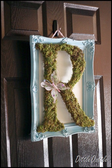 Spring Framed Mossy letter