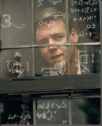 a beautiful mind window writing