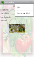 Screenshot of Personal Recipes