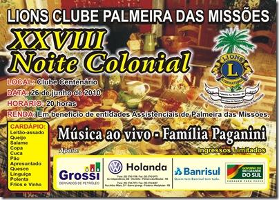 Noite Colonial Convite