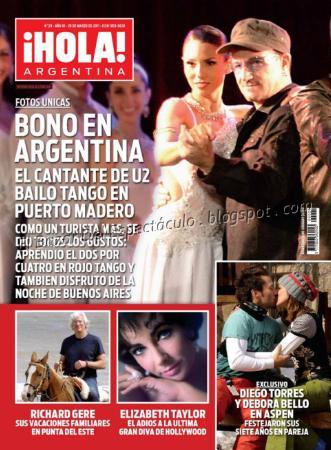 Bono bailando tango en puerto madero en revista hola 30 for Revistas del espectaculo