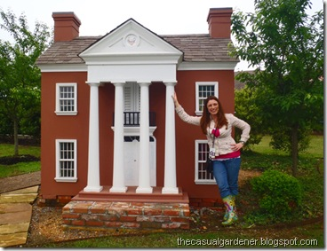 Shawna at the Arkansas Governor's Mansion