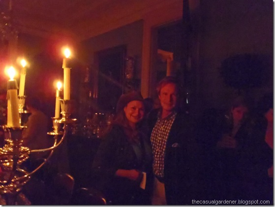 Shirley Bovshow with P. Allen Smith by candlelight at Marsgate Plantation
