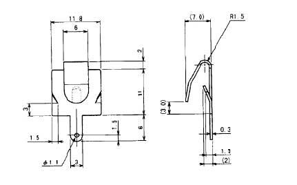 単三乾電池-極板バネ_詳細図