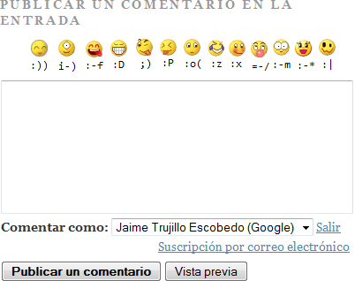 Añadir emoticonos del Messenger a Blogger