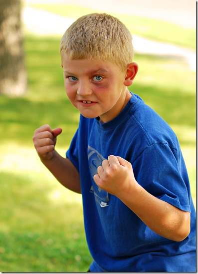 Bridger fighting 5x7
