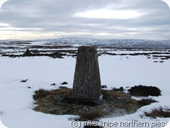 middlehope moor trig point