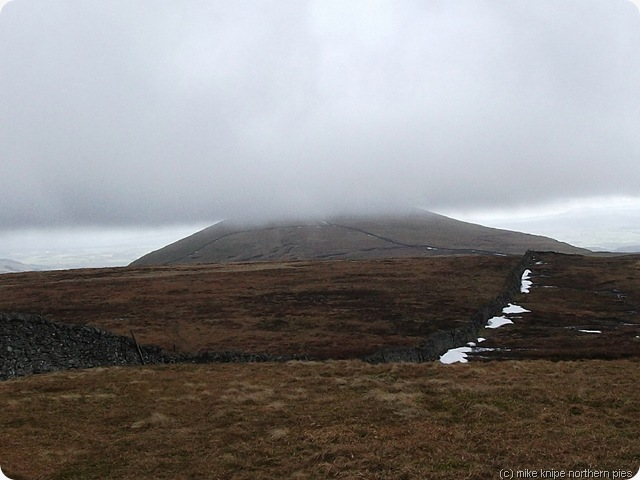 penyghent summit with hill fog