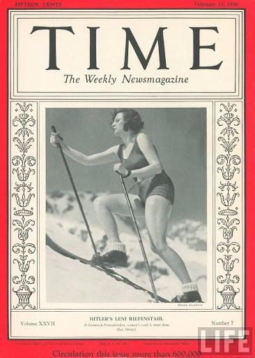 Leni Riefenstahl, skier. 'Time' cover