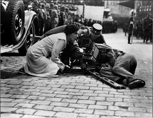 Leni Riefenstahl and camera director Sepp Allgeier
