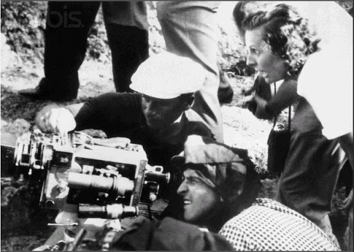 Leni Riefenstahl shooting 'Olympia'