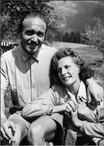 Leni Riefenstahl under arrest at home, 1945