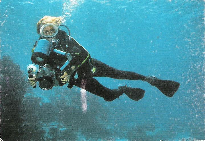 Leni Riefenstahl diving, c. 1980