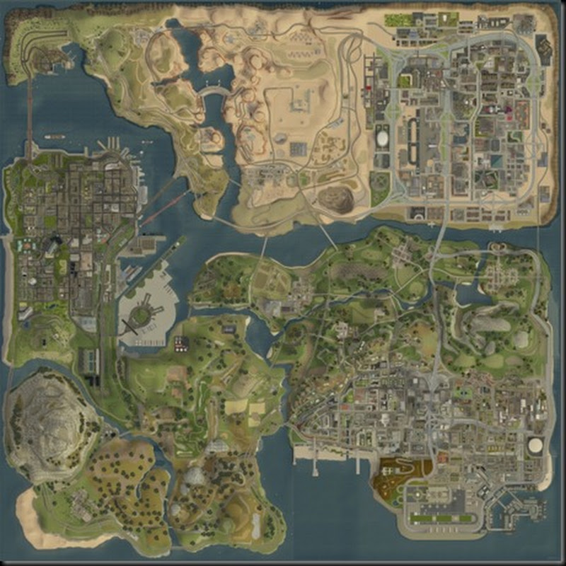 GTA : DOWNLOAD SAN ANDREAS ALL 6000 X 6000 MAP