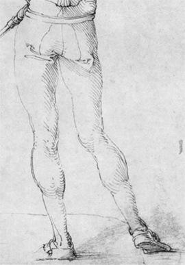 "Ausschnitt ""Landsknecht, Rückenfigur"" von Dürer"