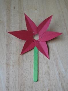 paper poinsettia craft 06