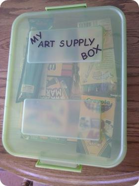 create a kids art box