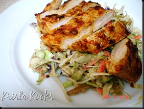 Krista Kooks Chipotle Glazed Chicken Breasts and Grilled Chopped Veggie Salad 2