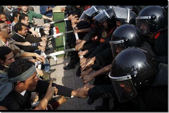 rakyat dan tentera mubarak