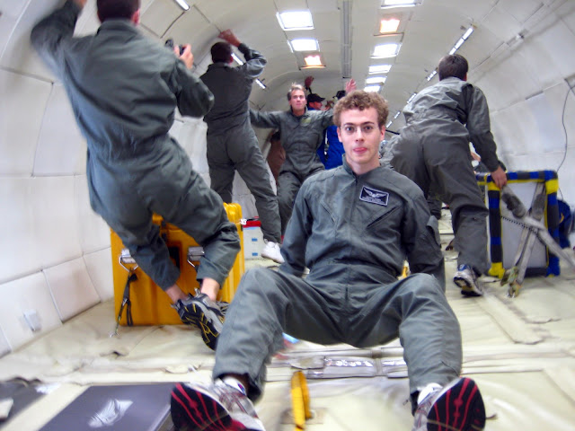 Coming up off the floor as we go into microgravity