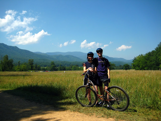 Joe and I biking Cades Cove Loop