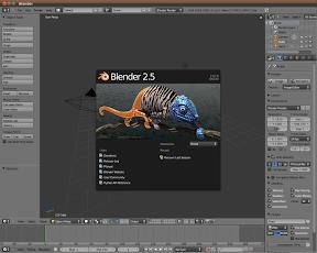La primera versión estable de Blender 2.5 y en Ubuntu