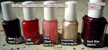 Essie mega mini holiday polishes and rock star skinny