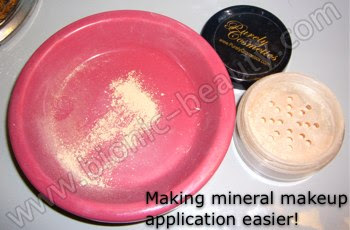 Bionic Beauty's Mineral Makeup application tip