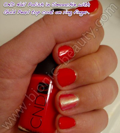 Bionic Beauty swatch and review - CND nail polish in Smoochie