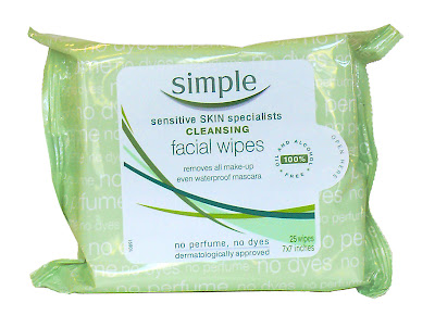 Simple Cleansing Facial Wipes for sensitive skin
