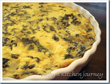 crustless spinach tofu quiche