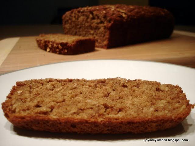 Finding Joy in My Kitchen: Oatmeal Tea Bread
