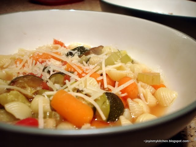 Finding Joy in My Kitchen: Roasted Vegetable Minestrone