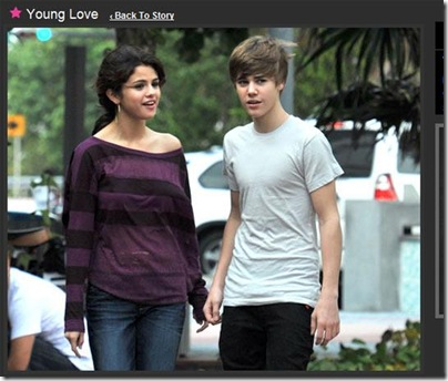 Fotos do Justin Bieber e Selena Gomez