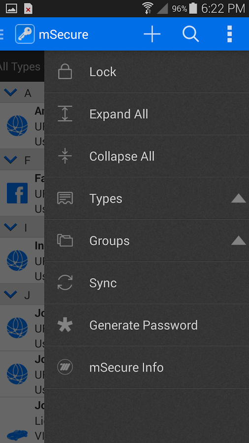 mSecure Password Manager Screenshot 4